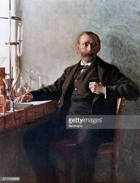 Alfred Nobel in his laboratory Painting by Emil Osterman Undated