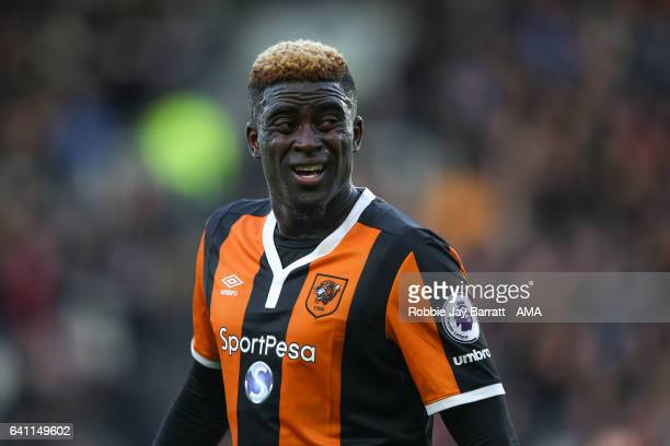 Alfred N'u2019Diaye of Hull City during the Premier League match between Hull City and Liverpool at KCOM Stadium on February 4 2017 in Hull England