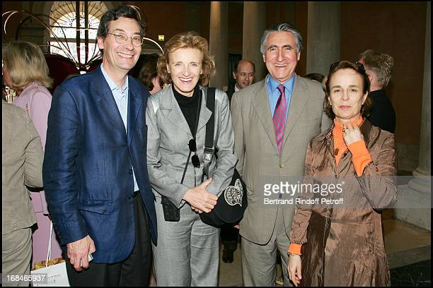 Alfred Paqueman and his wife Baron Ernest Antoine Seilliere and his wife Antoinette at Private Viewing Of The Exhibition 'Where Are We Going' In...