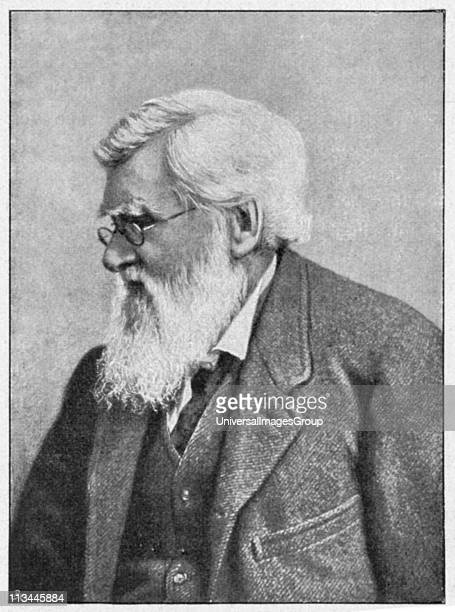 Alfred Russell Wallace c1895 Welsh naturalist whose memoir which Darwin saw in 1858 caused Darwin to modify his theory of evolution