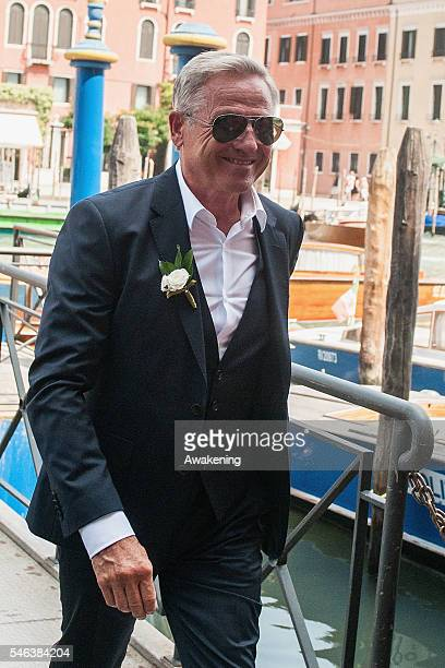 Alfred Schweinsteiger father of Bastian Schweinsteiger arrives at the wedding hall at Palazzo Cavalli before the celebration of Bastian...