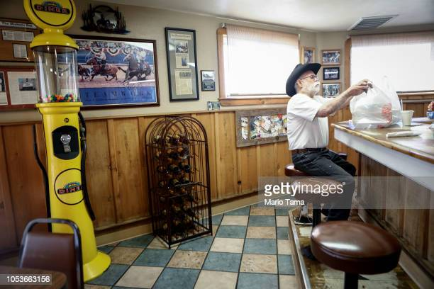 Alfred Sisk prepares to depart the Farmers Den restaurant on October 25 2018 in Crows Landing California Sisk said he will vote in the midterms and...