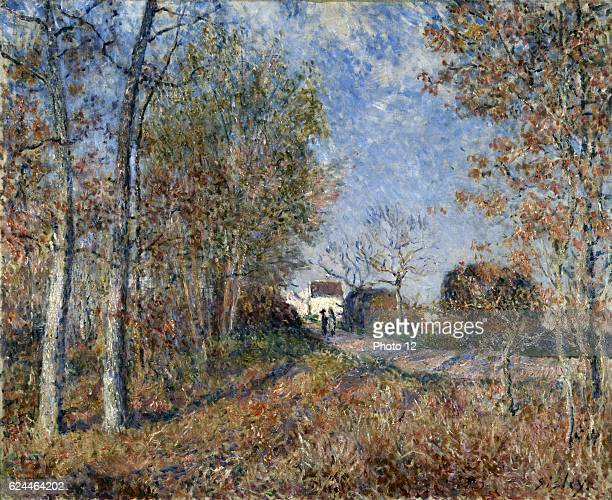 Alfred Sisley English school A wooden wedge to Sablons 1883 Oil on canvas Paris musee d'Orsay