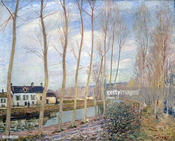 Alfred Sisley English school The Canal du Loing 1892 Oil on canvas Paris musee d'Orsay