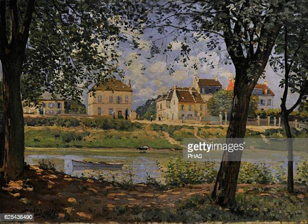 Alfred Sisley French impressionist painter VilleneuvelaGarenne 1872 Oil on canvas The State Hermitage Museum Saint Petersburg Russia
