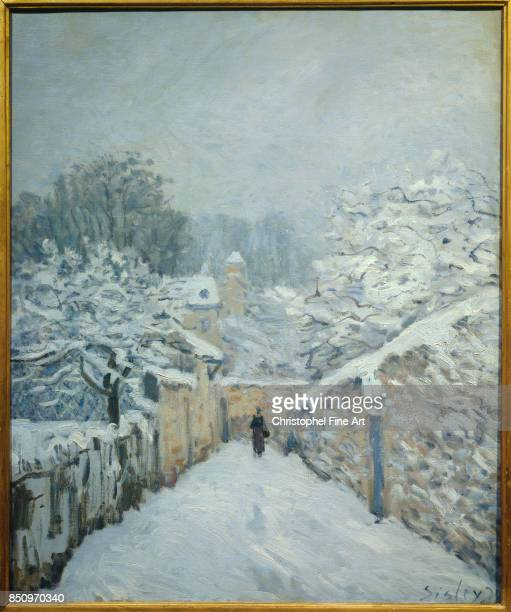 Alfred Sisley Snow at Louveciennes 1878 Oil on canvas 061 x 050 m Paris Orsay Museum