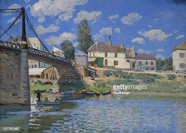 Alfred Sisley's Bridge of VilleneuvelaGarenne 1872