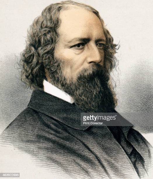 Alfred Tennyson, 1st Baron Tennyson, English poet, c1880. Tennyson was born at Somersby, Lincolnshire. In 1850 he was appointed Poet Laureate and in...