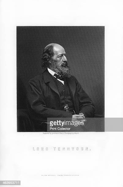 Alfred Tennyson 1st Baron Tennyson Poet Laureate of the United Kingdom Alfred Lord Tennyson was Poet Laureate from 1850 until his death An Engraving...