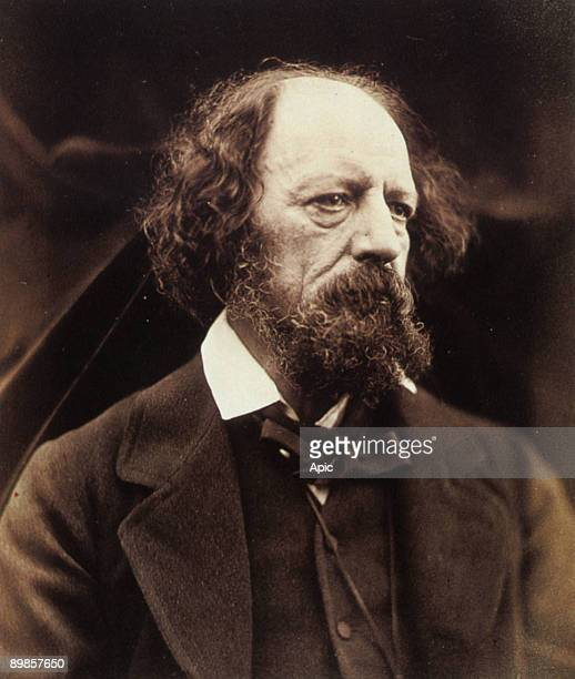 Alfred Tennyson baron d'Altworth , english poet and dramatic author c. 1880