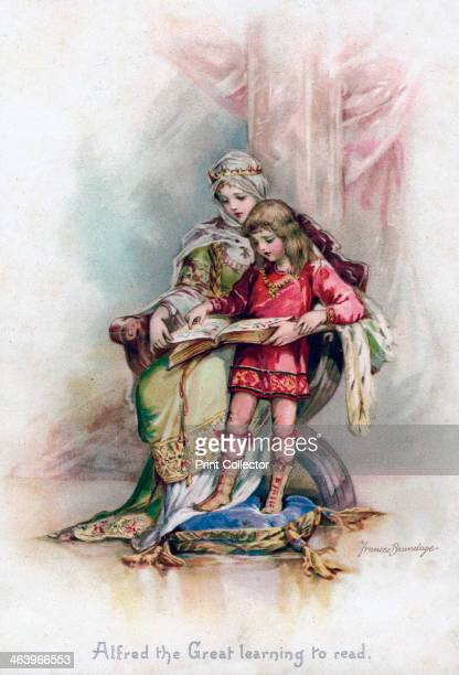 'Alfred the Great learning to read' 1897 From Royal Children of English History by Edith Nesbit published by Raphael Tuck and Sons Ltd