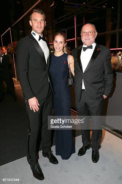 Alfred Weiss and his daughter Nina Weiss and her boyfriend Manuel Neuer during the aftershow party of the 23rd Opera Gala at Deutsche Oper Berlin on...