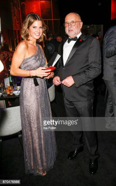 Alfred Weiss initiator Aids Gala and his wife Nadine von Gumppenberg attend the aftershow party during during the 24th Opera Gala at Deutsche Oper...