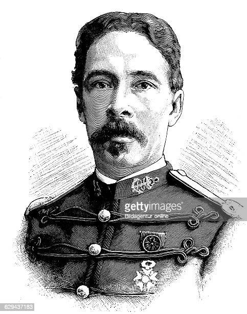 Alfredamedee dodds 1842 1922 french officer of the expeditionary corps in the second francodahomean war in west africa historical illustration circa...