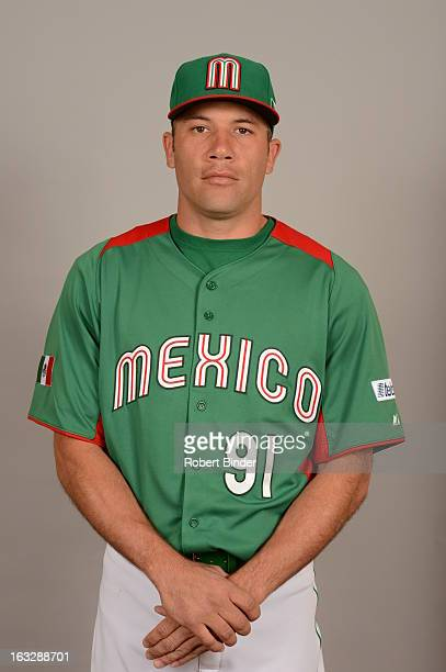 Alfredo Aceves of Team Mexico poses for a headshot for the 2013 World Baseball Classic on Monday March 4 2013 at Camelback Ranch in Glendale Arizona