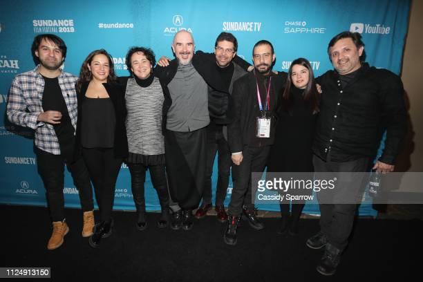 Alfredo Altamirano Natalia Moguel Diana Quiroz Hami Sama Max Zunino Ale Garcia and Antonio Urdapilleta attend the 'This Is Not Berlin' Premiere...
