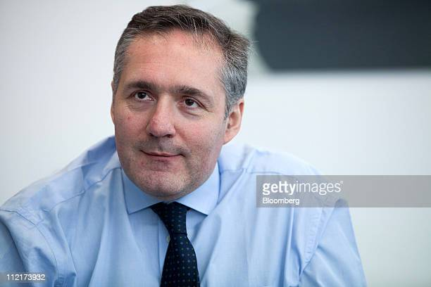 Alfredo Altavilla chief executive officer of Iveco pauses during an interview at the Fiat SpA Mirafiori car plant in Turin Italy on Tuesday March 29...