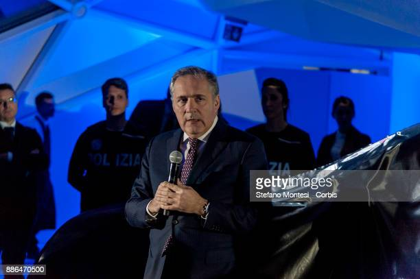 Alfredo Altavilla chief officer of Fiat Chrysler for Europe Middle East and Africa during the presentation of Fullback for the Scientific Police on...