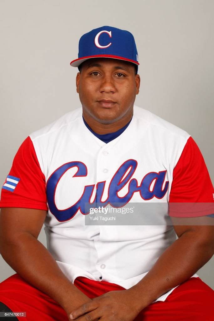 Alfredo Despaigne #54 of Team Cuba poses for a headshot at the Kyocera Dome on Thursday, March 2, 2017 in Osaka, Japan.