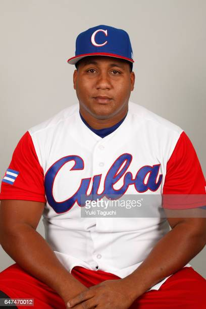 Alfredo Despaigne of Team Cuba poses for a headshot at the Kyocera Dome on Thursday March 2 2017 in Osaka Japan
