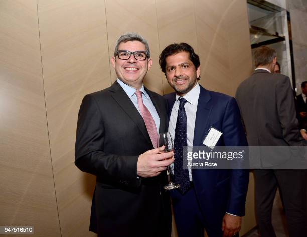 Alfredo Guzman and Reaz Jafri attend Launch Of New Entity Withers Global Advisors at 432 Park Avenue on April 3 2018 in New York City Alfredo...