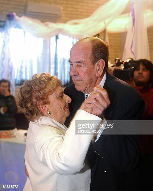 Alfredo Maciel and Nilsa Noble dance a waltz during their wedding ceremony at the public geriatric hospital Pieyro del Campo in which they both live...