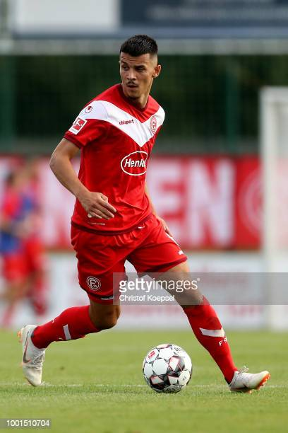 Alfredo Morales of Duesseldorf runs with the ball during the Pre Season Friendly match between FC WegbergBeeck and Fortuna Duesseldorf at Waldstadion...