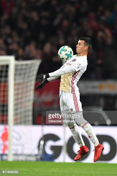 Alfredo Morales of FC Ingolstadt 04 plays the ball during the Second Bundesliga match between 1 FC Nuernberg and FC Ingolstadt 04 at...