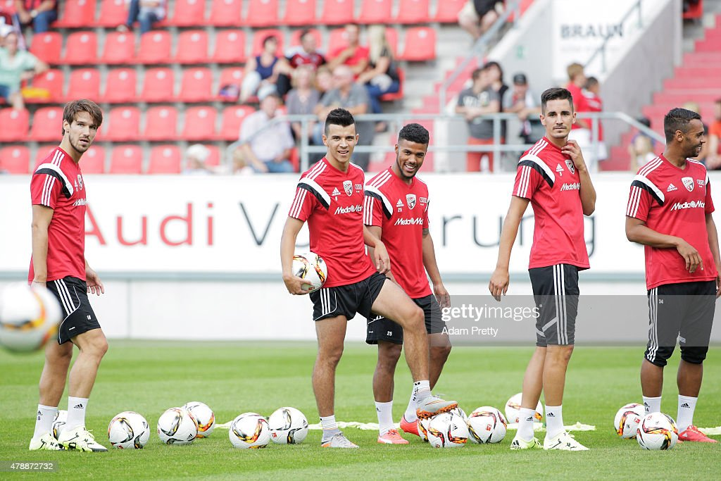 Alfredo Morales of FC Ingolstadt in action during first day of training at Audi Sportpark on June 28, 2015 in Ingolstadt, Germany.