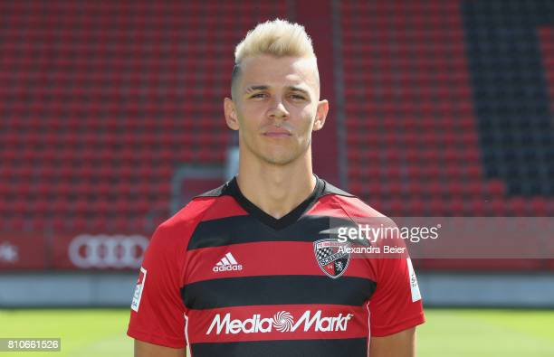 Alfredo Morales of FC Ingolstadt poses during the team presentation at Audi Sportpark stadium on July 8 2017 in Ingolstadt Germany