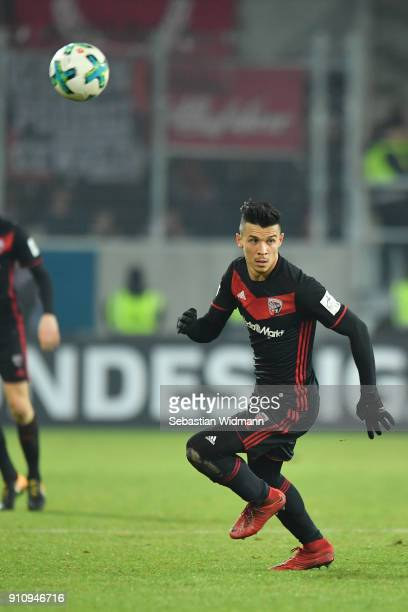 Alfredo Morales of Ingolstadt runs after the ball during the Second Bundesliga match between SSV Jahn Regensburg and FC Ingolstadt 04 at Continental...
