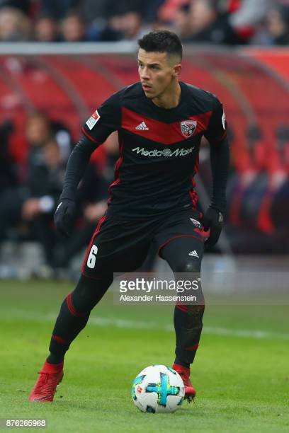 Alfredo Morales of Ingolstadt runs with the ball during the Second Bundesliga match between FC Ingolstadt 04 and Fortuna Duesseldorf at Audi...