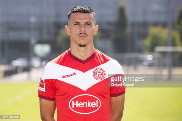 Alfredo Morales poses during the team presentation at Esprit Arena on July 13 2018 in Duesseldorf Germany