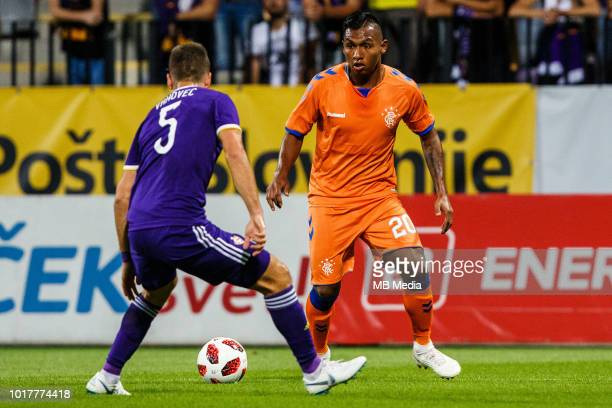 Alfredo Morelos of FC Rangers in action during 2nd Leg football match between NK Maribor and Rangers FC in 3rd Qualifying Round of UEFA Europa League...