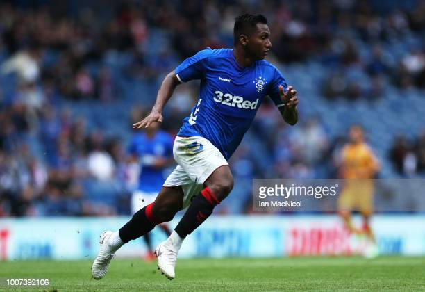 Alfredo Morelos of Rangers is seen during the PreSeason Friendly match between Rangers and Wigan Athletic at Ibrox Stadium on July 29 2018 in Glasgow...