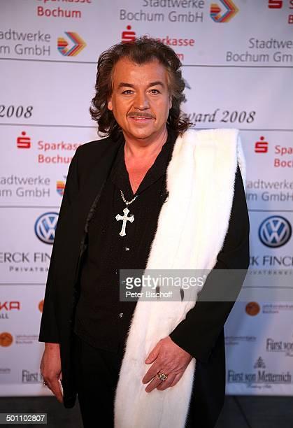 Alfredo Pauly Gala Verleihung 'Steiger Award 2008' Bochum NordrheinWestfalen Deutschland Europa 'Jahrhunderthalle' roter Teppich Logo Kette Kreuz...