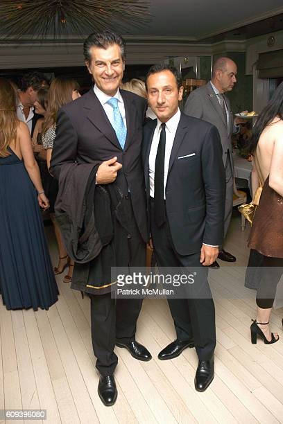 Alfredo Pecora and Gilles Mendel attend PATRICK MCMULLAN'S 'GLAMOUR GIRLS' Dinner hosted By GILLES MENDEL and BERGDORF GOODMAN at Bergdorf Goodman on...