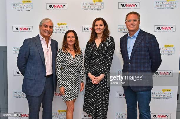 Alfredo Rivera, Wendy Guerrero, Geena Davis and Doug McMilllon attend the 2021 Bentonville Film Festival opening night red carpet and filmmaker...