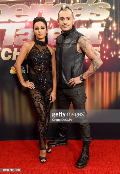 Alfredo Silva and Anna Silva Deadly Games duo arrives at America's Got Talent The Champions Finale at Pasadena Civic Auditorium on October 17 2018 in...