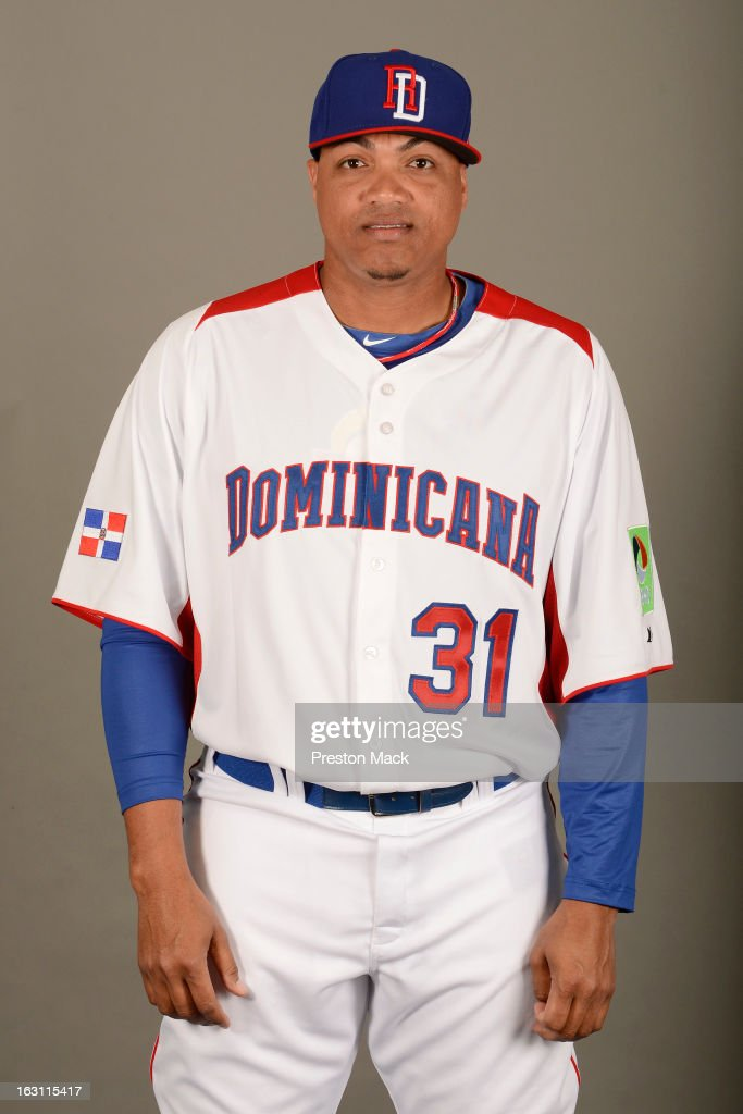 Alfredo Simon #31 of Team Dominican Republic poses for a headshot for the 2013 World Baseball Classic on March 4, 2013 at George M. Steinbrenner Field in Tampa, Florida.