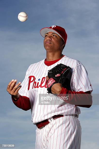 Alfredo Simon of the Philadelphia Phillies poses during Photo Day on February 24 2007 at Brighthouse Networks Field in Clearwater Florida