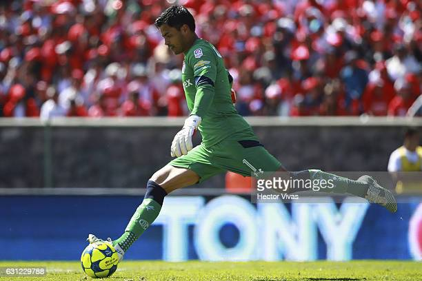 Alfredo Talavera goalkeeper of Toluca kicks the ball during the 1st round match between Toluca and Atlas as part of the Torneo Clausura 2017 Liga MX...