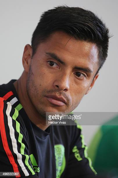 Alfredo Talavera looks on during a press conference after a training session at Centro de Alto Rendimiento on November 10 2015 in Mexico City Mexico...