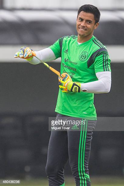 Alfredo Talavera of Mexico gets ready for a training session at O' Rei Pele Training Center on June 11 2014 in Santos Brazil