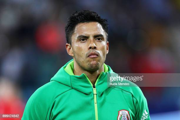 Alfredo Talavera of Mexico lines up prior to the FIFA Confederations Cup Russia 2017 Group A match between Mexico and New Zealand at Fisht Olympic...