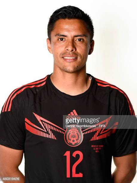 Alfredo Talavera of Mexico poses during the Official FIFA World Cup 2014 portrait session on June 8 2014 in Santos Brazil