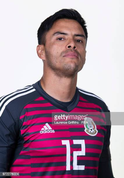Alfredo Talavera of Mexico poses for a portrait during the official FIFA World Cup 2018 portrait session at the Team Hotel on June 12 2018 in Moscow...