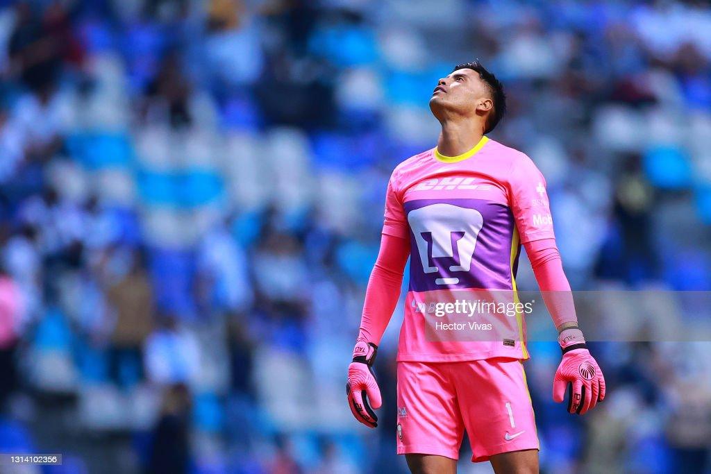 Puebla v Pumas UNAM - Torneo Guard1anes 2021 Liga MX : Foto jornalística
