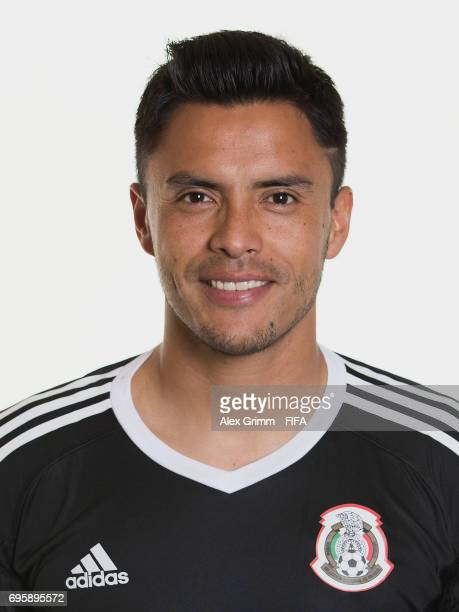 Alfredo Talavera poses for a picture during the Mexico team portrait session on June 14 2017 in Kazan Russia