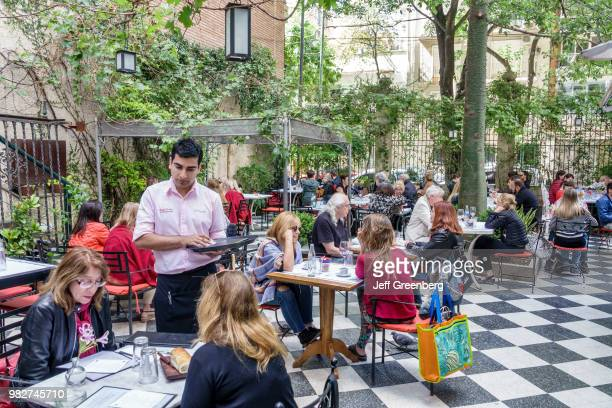 Alfresco dining at the cafe at Museo Evita Peron Museum